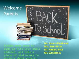 Ms. Joanna Fleishman Mrs. Tessa Hicks Ms. Jordana Paul Mr. Evan Raney
