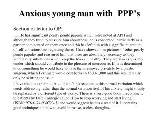 Anxious young man with   PPP's