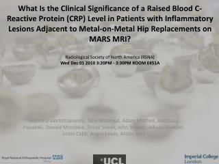 We are interested in the mechanism of failure of metal-on-metal hip replacements