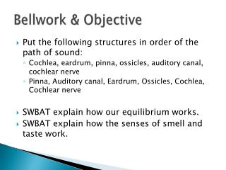 Bellwork  & Objective