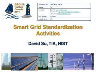 Smart Grid Standardization Activities