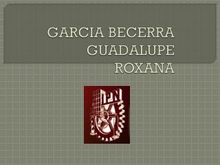 GARCIA BECERRA GUADALUPE ROXANA