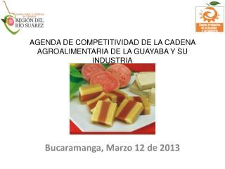 AGENDA DE COMPETITIVIDAD DE LA CADENA AGROALIMENTARIA DE LA GUAYABA Y SU INDUSTRIA