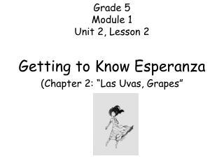 Grade 5 Module 1 Unit 2, Lesson 2