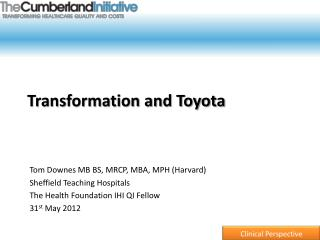 Transformation and Toyota