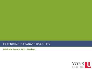 Extending Database Usability