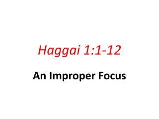 Haggai 1:1-12