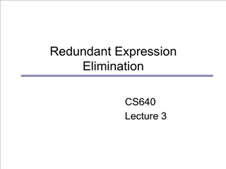 Redundant Expression Elimination