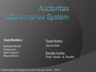 Auctoritas eGovernance  System