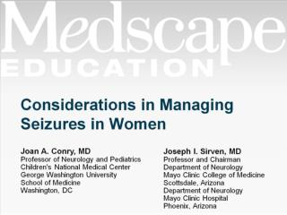 Considerations in Managing Seizures in Women