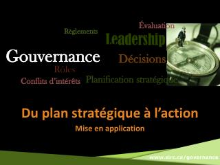 Du plan strat�gique � l�action