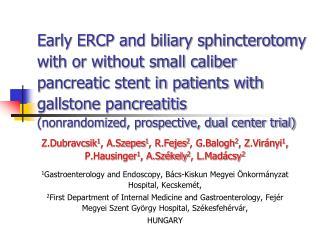 Introduction – acute pancreatitis