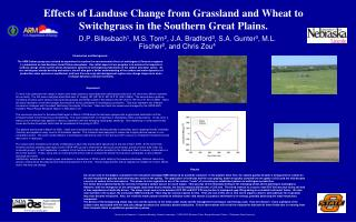 Effects of Landuse Change from Grassland and Wheat to Switchgrass in the Southern Great Plains.
