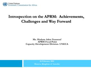 Introspection on the APRM:  Achievements, Challenges and Way Forward