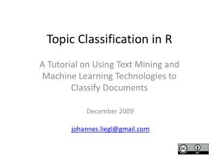Topic Classification in R