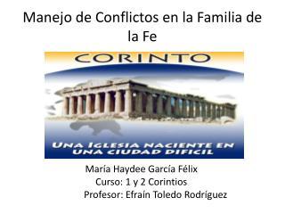 Manejo de Conflictos en la Familia de la Fe