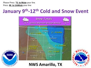 January 9 th -12 th  Cold and Snow Event