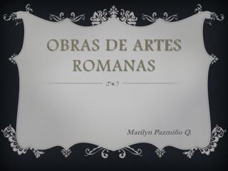 Obras de artes romanas