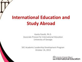 International Education and Study Abroad