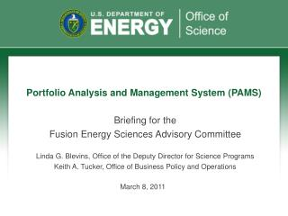 Portfolio Analysis and Management System (PAMS)