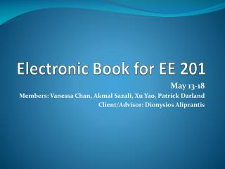 Electronic Book for EE 201