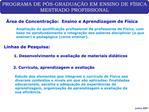 PROGRAMA DE P S-GRADUA  O EM ENSINO DE F SICA MESTRADO PROFISSIONAL