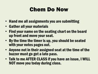 Chem  Do Now