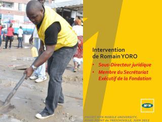 Intervention  de Romain YORO