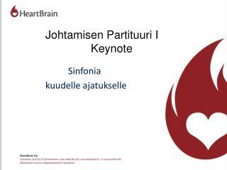 Johtamisen Partituuri I Keynote