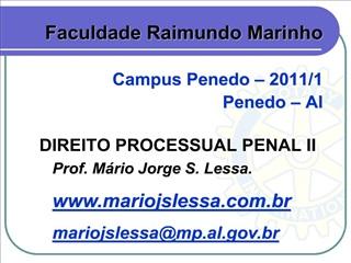 DIREITO PROCESSUAL PENAL II