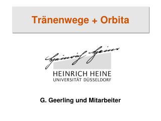 Tränenwege + Orbita