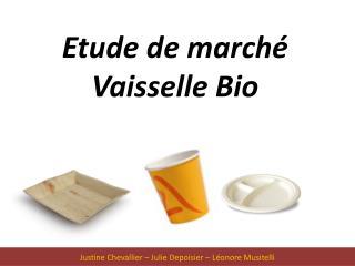 Etude de marché Vaisselle Bio