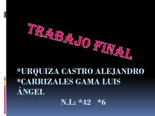 *URQUIZA Castro Alejandro *Carrizales Gama Luis �ngel n.l : *42   *6