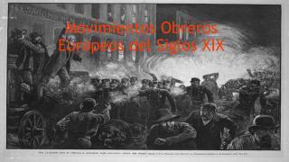 Movimientos Obreros Europeos del Siglos XIX