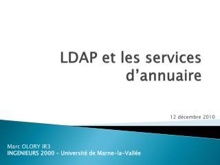LDAP et les services d'annuaire