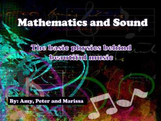 Mathematics and Sound