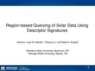Region-based Querying of Solar Data Using Descriptor Signatures