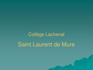 Collège Lachenal Saint Laurent de Mure