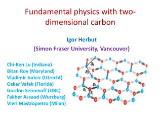 Fundamental physics with two-dimensional carbon