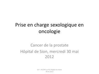 Prise en charge sexologique en oncologie
