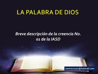 LA PALABRA DE DIOS