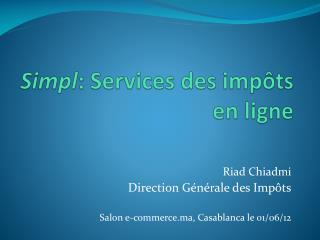Simpl : Services des impôts en ligne