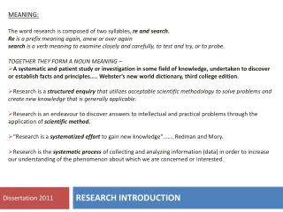 RESEARCH INTRODUCTION