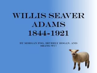 Willis Seaver Adams 1844-1921