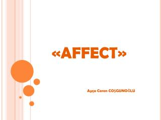 «AFFECT»