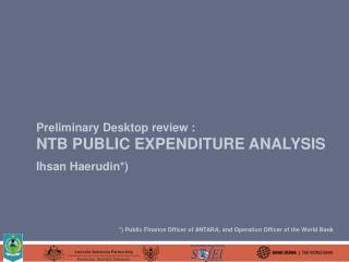 Preliminary Desktop review : ntb public expenditure analysis