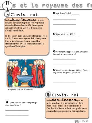 Clovis et le royaume des francs