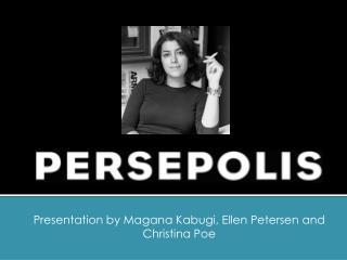 Presentation by Magana Kabugi,  Ellen Petersen  and Christina Poe