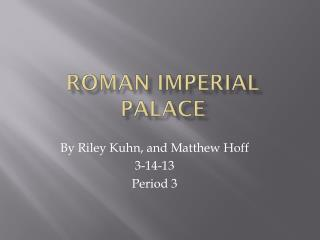 Roman Imperial Palace