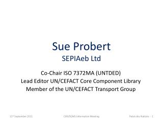 Sue Probert SEPIAeb  Ltd